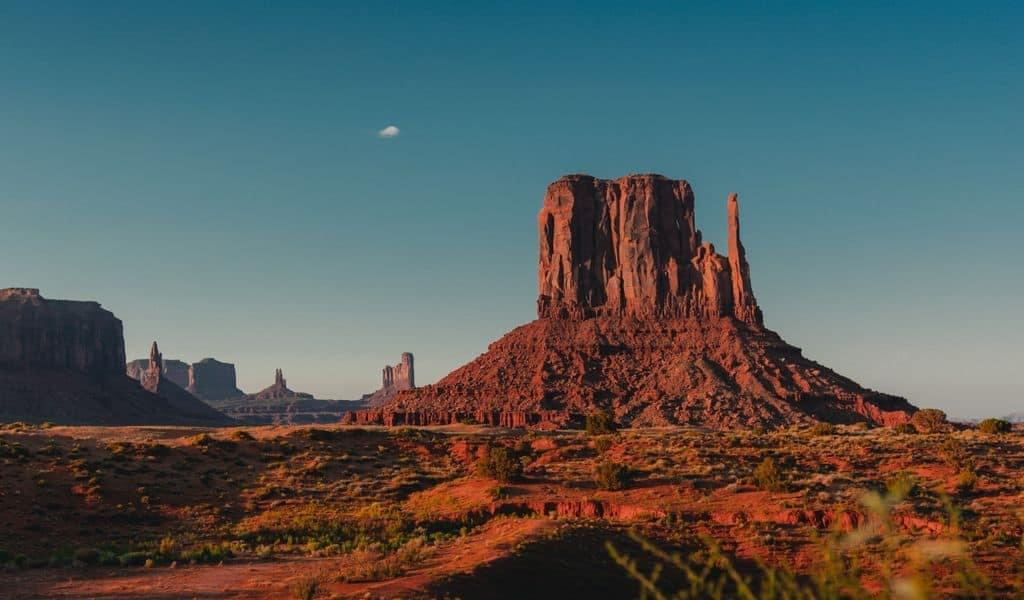 A flat mountaintop in Arizona offers incredible scenery