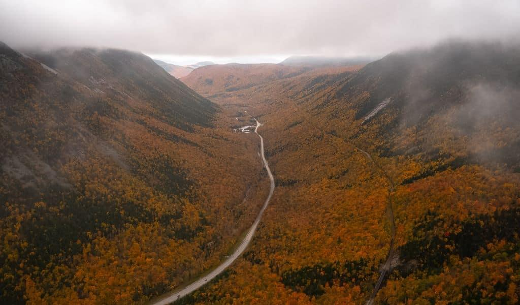 A gorgeous long-range view of Northern New Hampshire