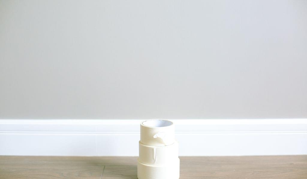 White masking tape on the floor