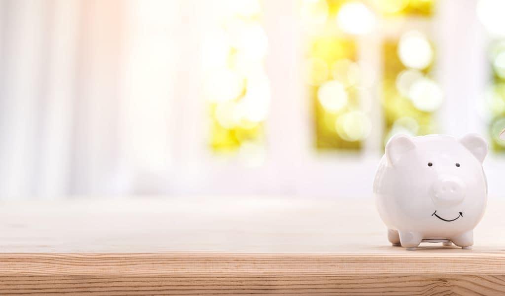 An piggy bank savings for a new home