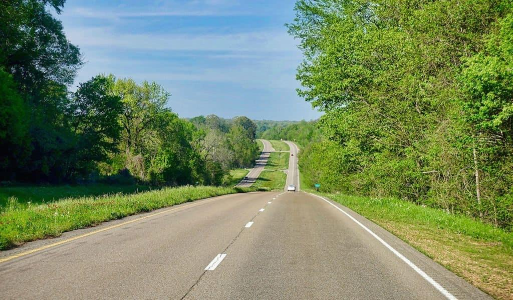 Driving down Highway 61 – takes you from Louisiana to Minnesota