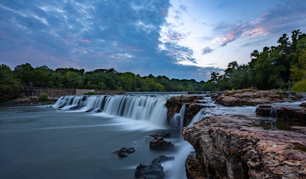 The natural wonder of  Grand Falls Waterfall