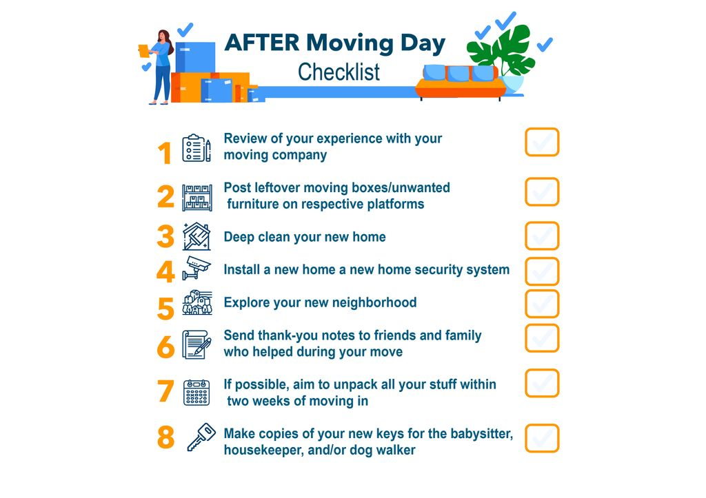 After Moving Day checklist