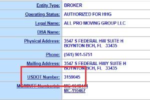 USDOT number