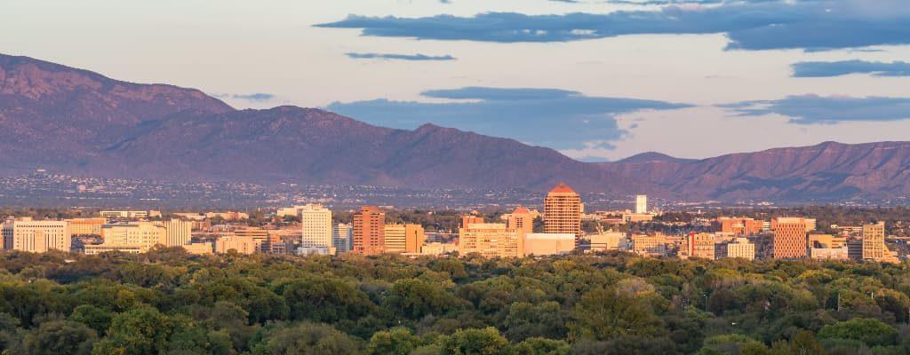 A view of Albuquerque, New Mexico Skyline