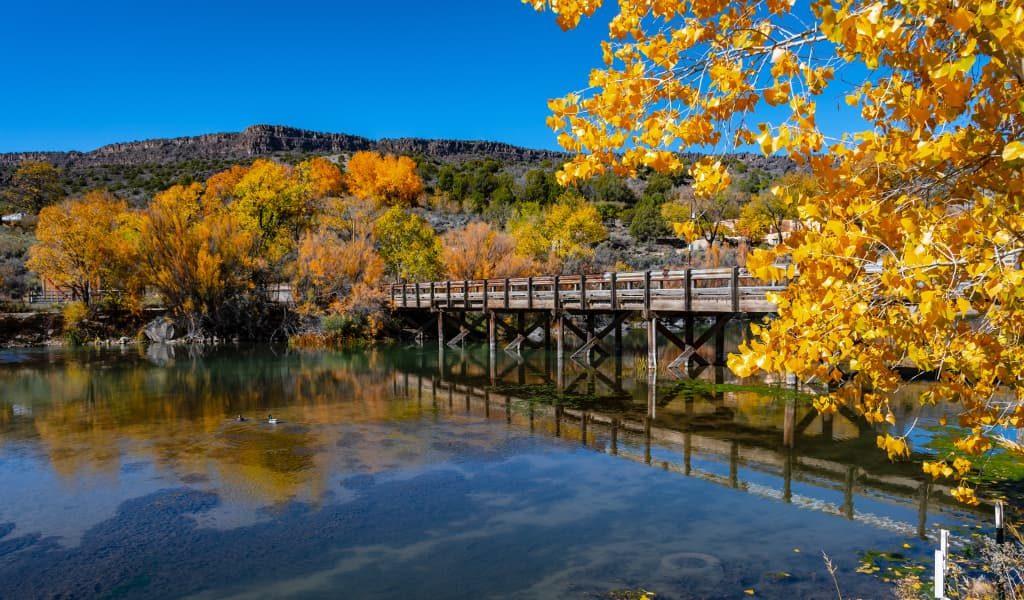 A wooden bridge in Rio Grande River