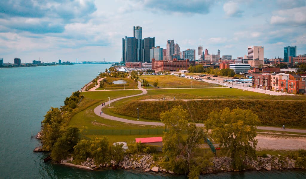 A glimpse of the beautiful city of Detroit, Michigan