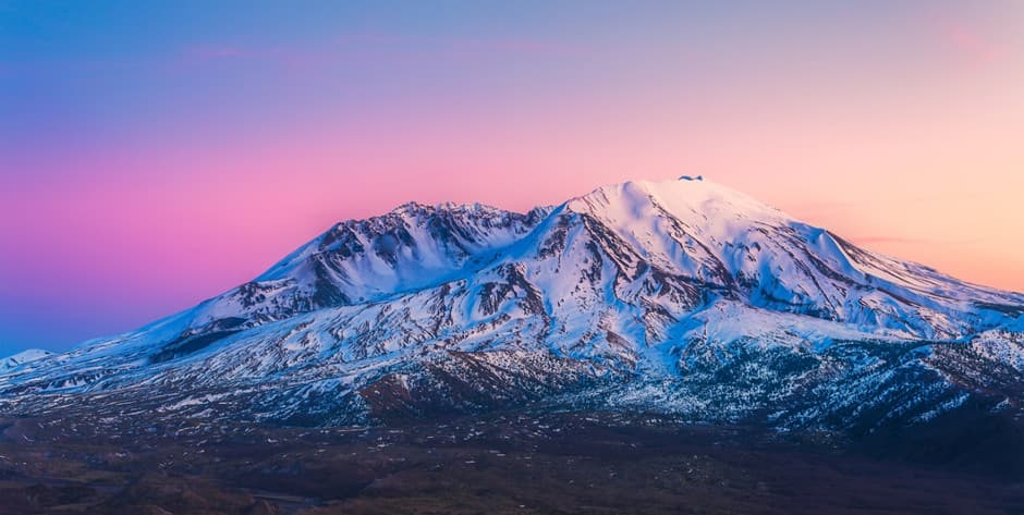 Picturesque Mount St. Helens during sunset