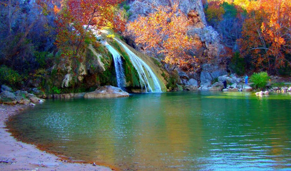 Turner Falls aqua water in beautiful nature