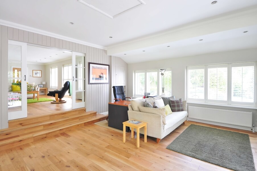 Wooden floors in a house.