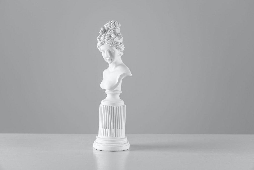 White sculpture bust