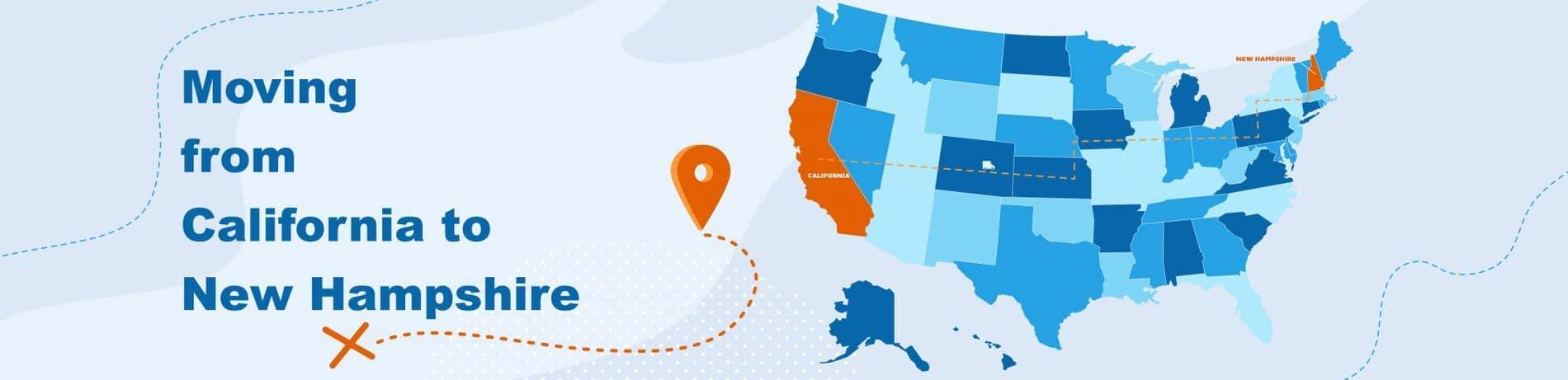 California to New Hampshire